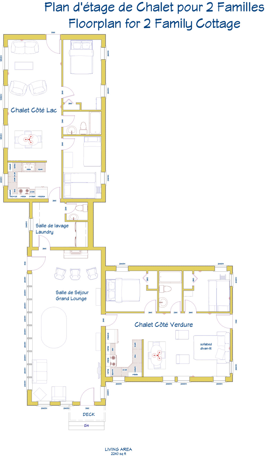 Bourgeois two suite floor plan
