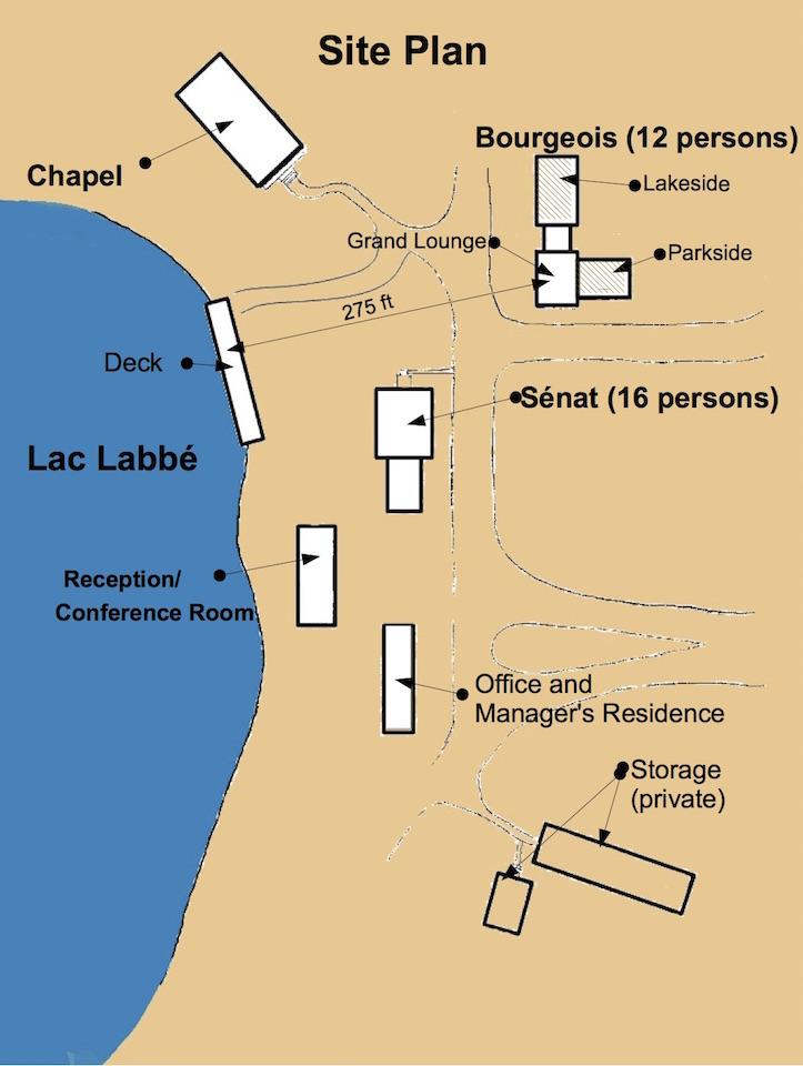 rental cottage site map