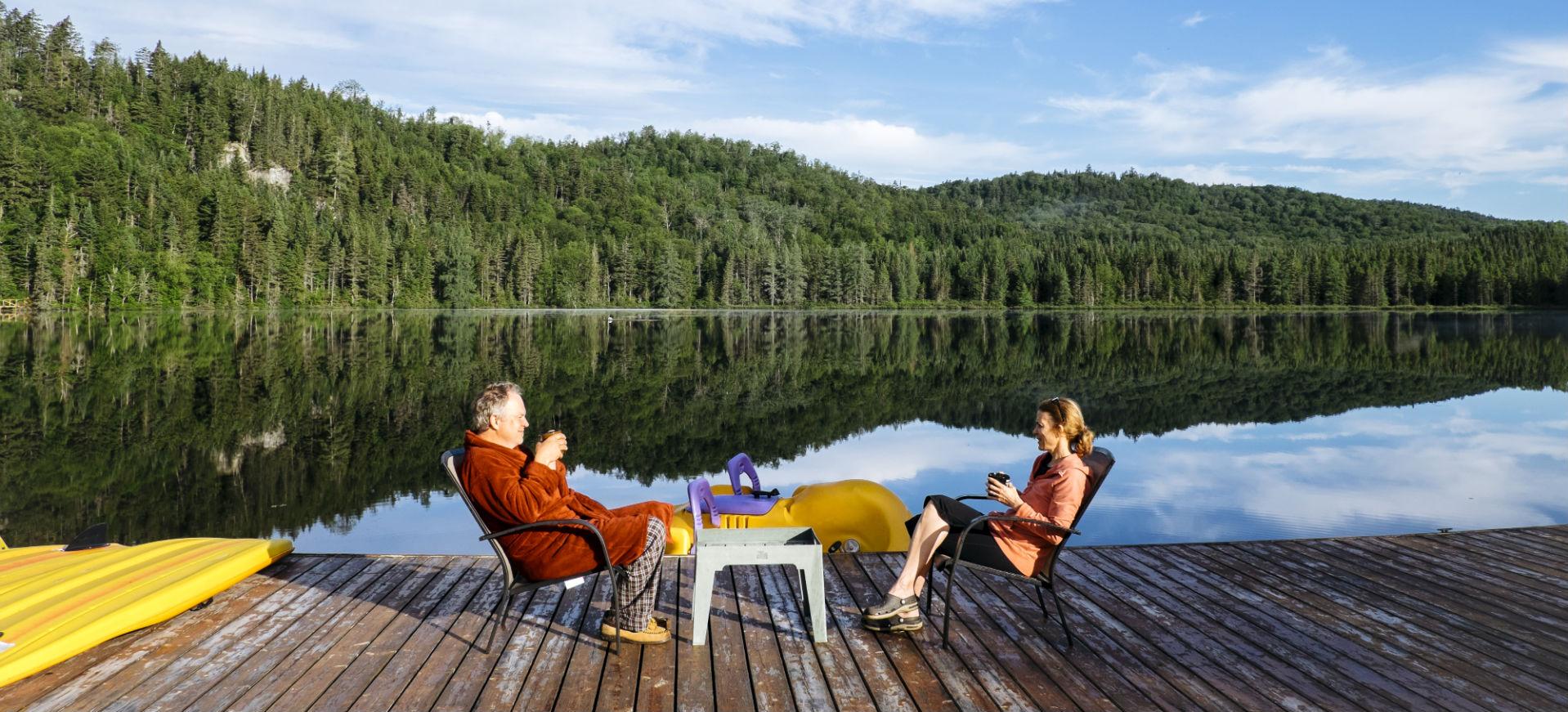 morning coffee lakeside